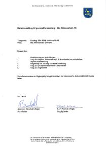 Generalforsamling 2015