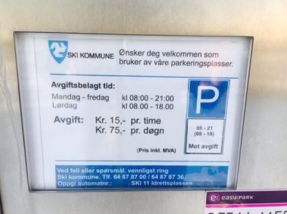 Parkeringsautomat jan 2016
