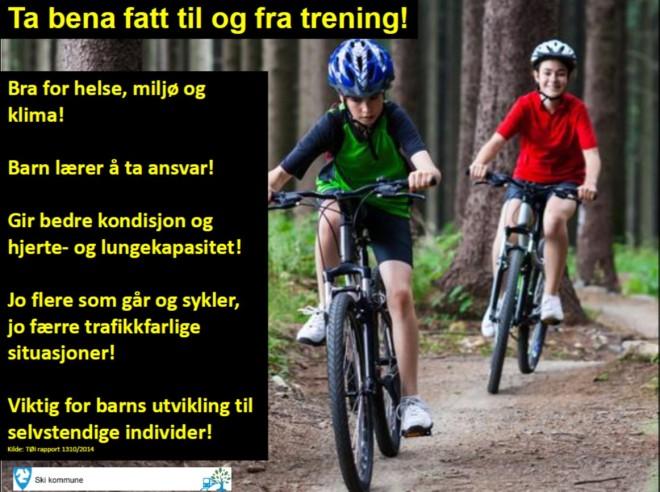 Anbefaling om sykling fra Ski Kommune